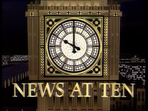 save the children appeal seq news at ten opening titles bongs ext iraq gv huge crowd of kurdish refugees in safe haven pan ms kurdish refugees... - itv news at ten stock-videos und b-roll-filmmaterial