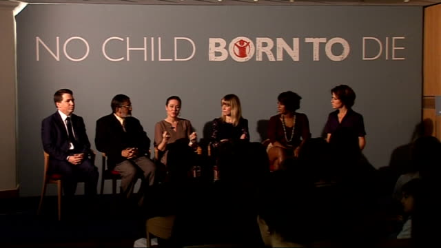 save the children launch 'no child born to die' campaign natasha kaplinsky interviews amanda mealing about her experience with save the children in... - save the children stock videos & royalty-free footage