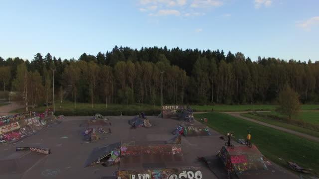 savelan freestylepark - helsinki, finland - half pipe stock videos & royalty-free footage