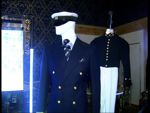 savile row tailors' exhibition at palazzo pitti / views of florence city more close ups of tailored country wear naval inspired suits copy of the... - savile row stock videos and b-roll footage