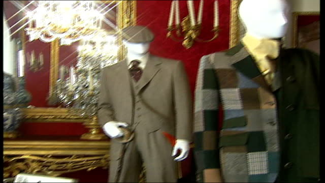 savile row tailors exhibition in florence int saville row suits on display - savile row stock videos and b-roll footage