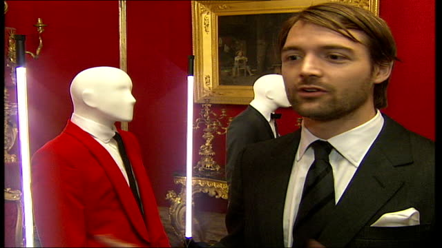 savile row tailors exhibition in florence patrick grant interview sot british and italian tailoring have coexisted for a long time - savile row stock videos and b-roll footage