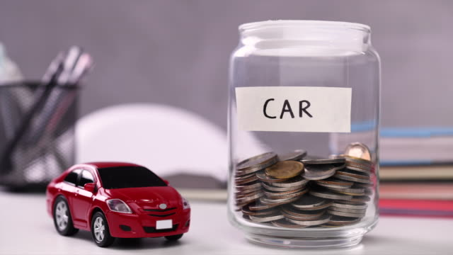 saving money for car - loan stock videos & royalty-free footage