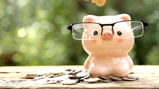 saving money piggy bank - piggy bank stock videos & royalty-free footage