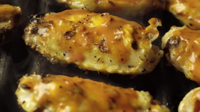 Savory Buffalo Chicken Wings on a Barbecue Grill