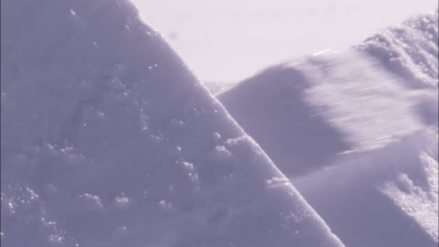 a saw slices through snow blocks on an igloo. available in hd. - igloo stock videos & royalty-free footage