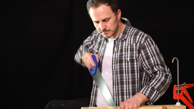 sawing wood - goatee stock videos & royalty-free footage