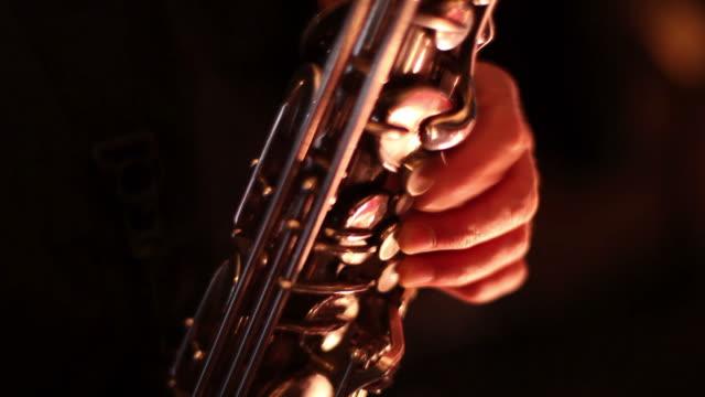 saxophone close-up - saxophone stock videos & royalty-free footage