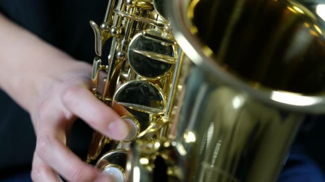 saxophone player - saxophone stock videos & royalty-free footage