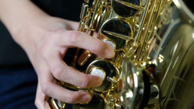saxophone player - alto saxophone stock videos and b-roll footage