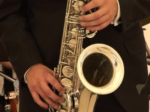 saxophone / saxophonist 2 - saxophone stock videos and b-roll footage