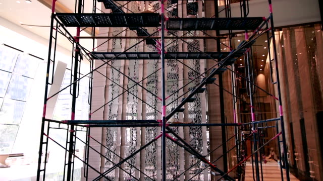 scaffolding - scaffolding stock videos and b-roll footage