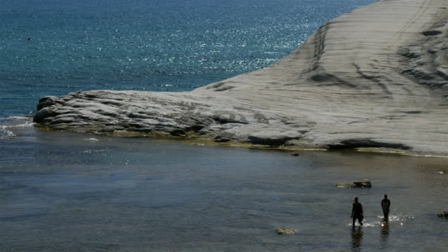 scala dei turchi, realmonte, sicily, italy - sicily stock videos and b-roll footage