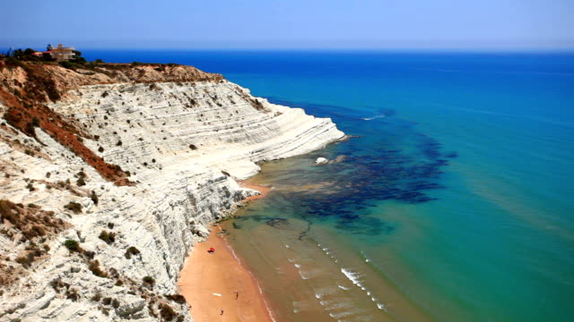 scala dei turchi - sicily stock videos & royalty-free footage