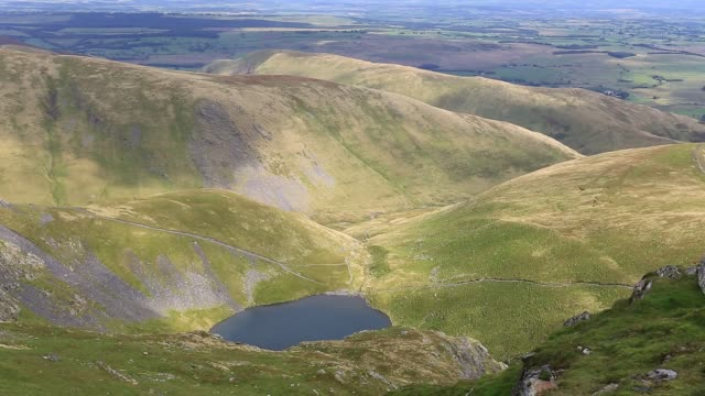 scales tarn on blencathra fell, lake district national park, cumbria, england, uk - real time stock videos & royalty-free footage
