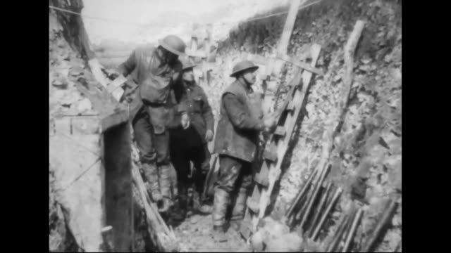 scaling ladders are fixed to walls in the trenches - trench stock videos & royalty-free footage