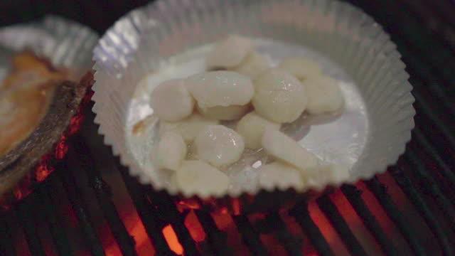 Scallop grill