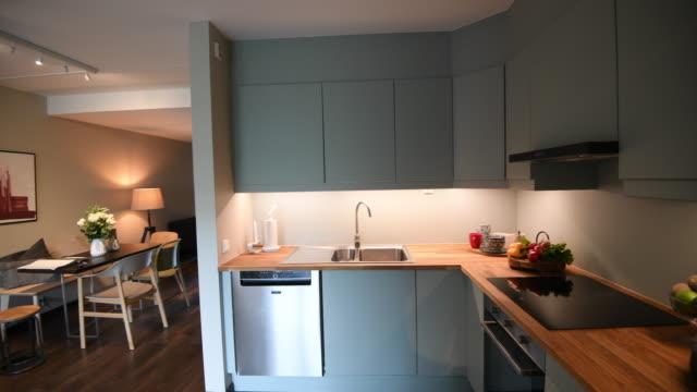 scandinavian modern home interior - styles stock videos & royalty-free footage