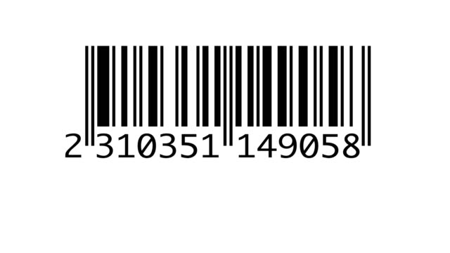 vidéos et rushes de scanner le code-barres isolé - caisse