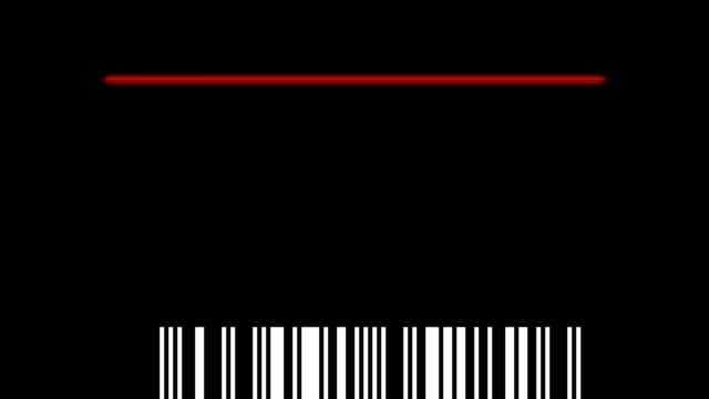 scanning barcode isolated - price tag stock videos & royalty-free footage