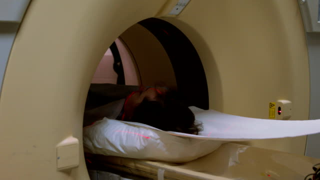 MRI scanning procedure in the hospital