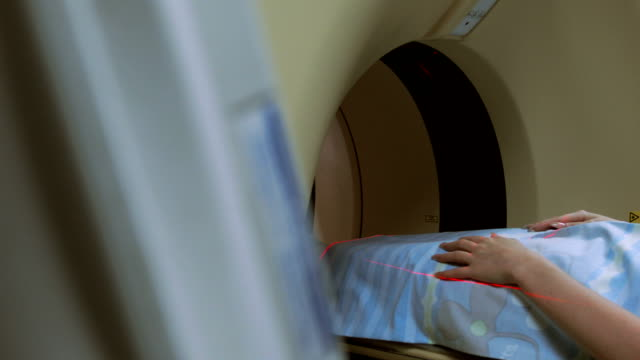 mri scanning procedure in the hospital - mri scanner stock videos and b-roll footage