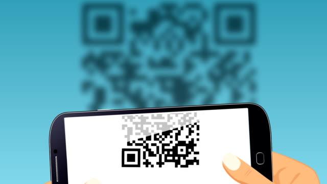 vidéos et rushes de numérisation qr code. - codage et codification