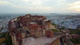 Scanning shot of Mehrangarh Fort in Jodhpur, Rajasthan