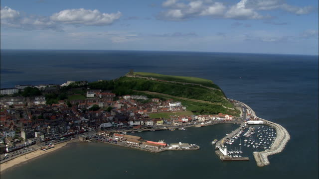 Scarborough  - Aerial View - England, North Yorkshire, Scarborough District, United Kingdom
