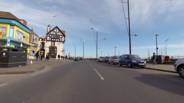 stockvideo's en b-roll-footage met scarborough sea front. - scarborough engeland