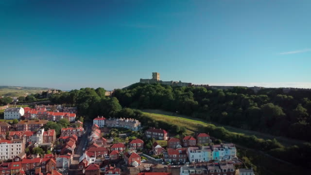 Scarbourgh Castle And South Bay Scarborough South Bay  North Yorkshire