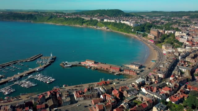 Scarbourgh South Bay And Harbour Scarborough South Bay  North Yorkshire