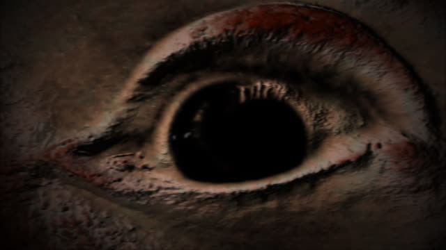 scared eye looking everywhere creepy background - deformed stock videos & royalty-free footage