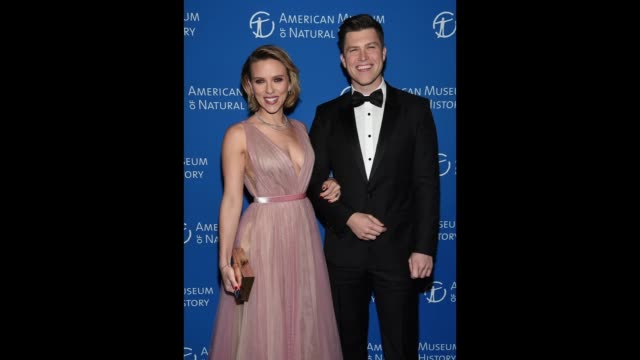 Scarlett Johansson and Colin Jost attend The American Museum Of Natural History 2018 Gala at American Museum of Natural History on November 15 2018...