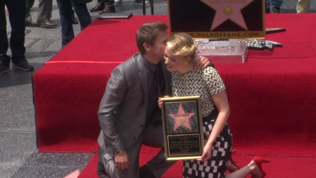 Scarlett Johansson and Jeremy Renner at Scarlett Johansson Honored With Star On The Hollywood Walk Of Fame Scarlett Johansson and Jeremy Renner at...
