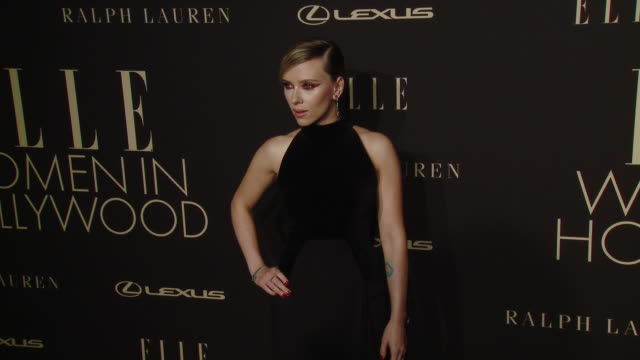 scarlett johansson at elle's 26th annual women in hollywood celebration presented by ralph lauren and lexus at four seasons hotel los angeles at... - scarlett johansson stock videos and b-roll footage
