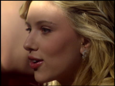 scarlett johansson at the 2006 golden globe awards at the beverly hilton in beverly hills california on january 16 2006 - golden globe awards stock videos & royalty-free footage