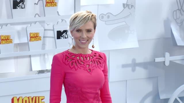 Scarlett Johansson at the 2015 MTV Movie Awards at Nokia Theatre LA Live on April 12 2015 in Los Angeles California
