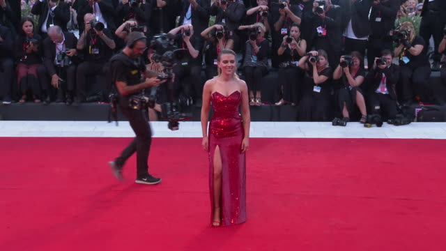 scarlett johansson at the 76th venice film festival on august 26 2019 in venice italy - scarlett johansson stock videos and b-roll footage