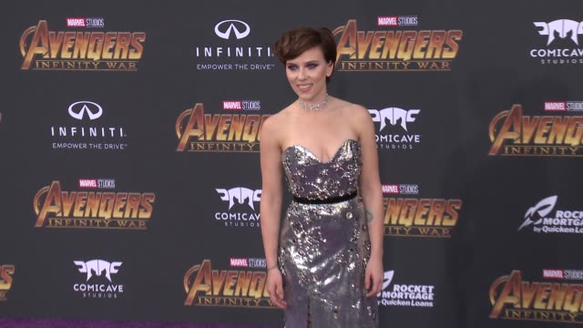 scarlett johansson at the avengers infinity war world premiere on april 23 2018 in hollywood california - scarlett johansson stock videos and b-roll footage