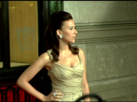 scarlett johansson at the cartier and interview magazine celebration of love at the cartier mansion in new york new york on june 8 2006 - scarlett johansson stock videos and b-roll footage
