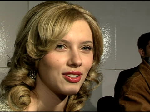 scarlett johansson at the 'match point' los angeles premiere at the los angeles county museum of art in los angeles california on december 8 2005 - scarlett johansson stock videos and b-roll footage
