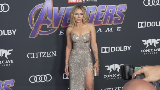 scarlett johansson at the world premiere of marvel studios' avengers endgame at los angeles convention center on april 22 2019 in los angeles... - premiere event stock videos & royalty-free footage