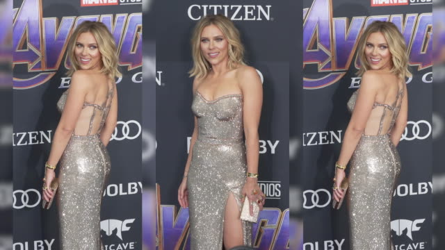 Scarlett Johansson at the World Premiere of Marvel Studios' 'Avengers Endgame' at Los Angeles Convention Center on April 22 2019 in Los Angeles...