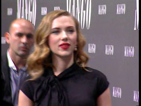 scarlett johansson attends the mango show in madrid madrid spain - scarlett johansson stock videos and b-roll footage