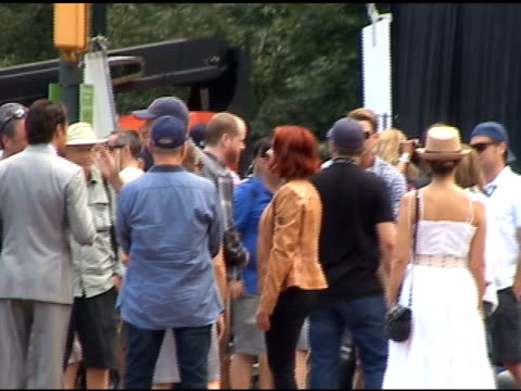 scarlett johansson chats with the crew on the set of 'the avengers' in central park in new york 09/02/11 - scarlett johansson stock videos and b-roll footage