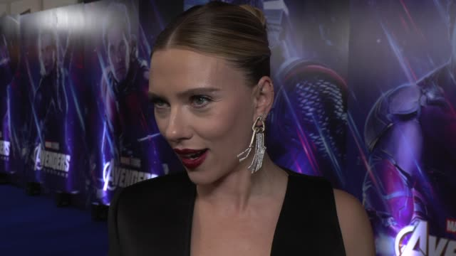 scarlett johansson on her character, the movie and keeping secrets on april 10, 2019 in london, united kingdom. - whispering stock videos & royalty-free footage