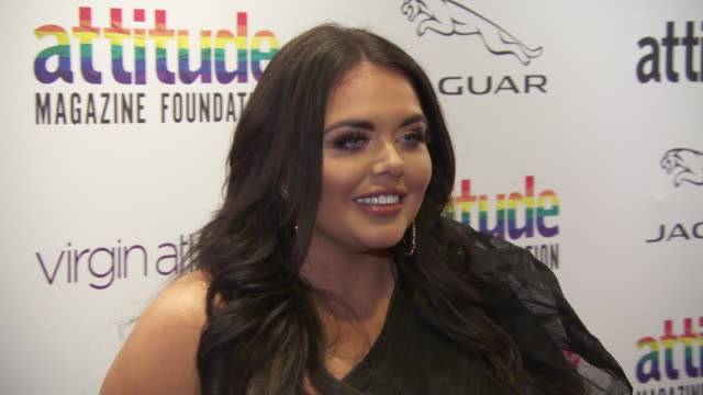 scarlett moffatt at virgin atlantic attitude awards powered by jaguar 2019 at the roundhouse camden at the roundhouse on october 9, 2019 in london,... - attitude stock videos & royalty-free footage