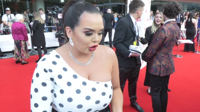 scarlett moffatt on girlpower growing up and strictly come dancing at the royal festival hall on may 12 2019 in london england - british academy television awards stock videos & royalty-free footage