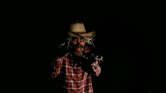Scary Scarecrow Halloween Character Creeping Halloween Video